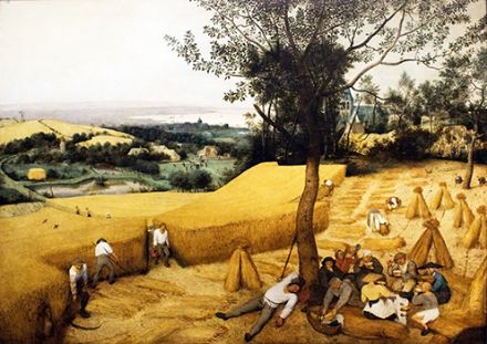 Bruegel the Elder, Pieter: The Harvesters. Fine Art Print/Poster. Sizes: A4/A3/A2/A1 (002006)